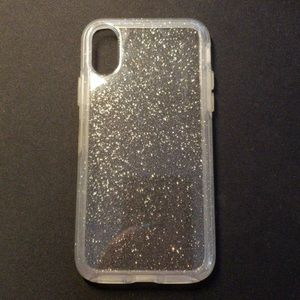 iPhone X sparkly otter box case.